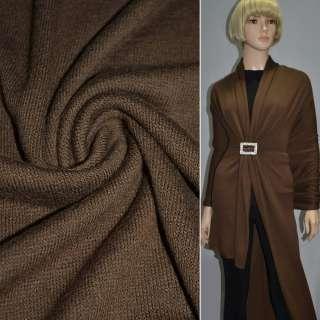Трикотаж вовняний коричневий ш.180