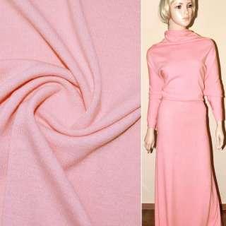 Трикотаж шерстяной розовый ш.180