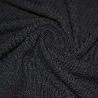 Трикотаж черный шерстяной ш.170