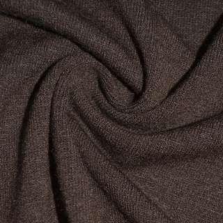 Трикотаж темно коричневый шерстяной ш.170