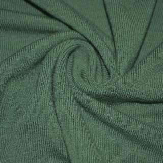 Трикотаж зелено серый шерстяной ш.170