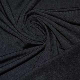 Трикотаж черный с начесом стрейч ш.180
