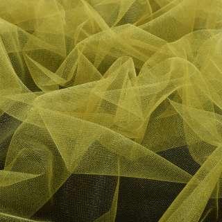 фатин (американская сетка) блестящ. желтый, ш.140