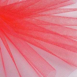 Фатин жорсткий коралово-червоний ш.180