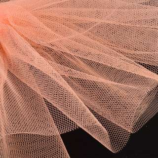 Фатин жорсткий помаранчевий світлий ш.180