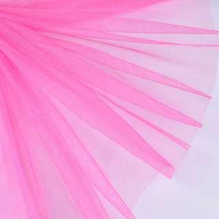 Фатин жесткий розовый насыщенный ш.150