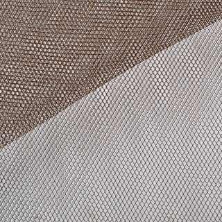 Фатин жесткий коричневый ш.140