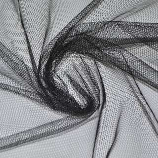 Фатин черный жесткий ш.160