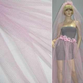 Фатин бледно-розовый жесткий ш.160