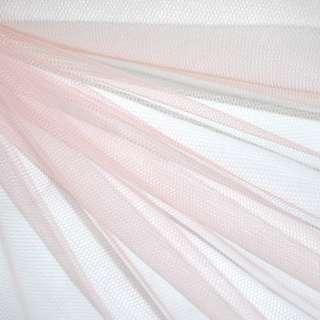 Фатин персиковый жесткий ш.160