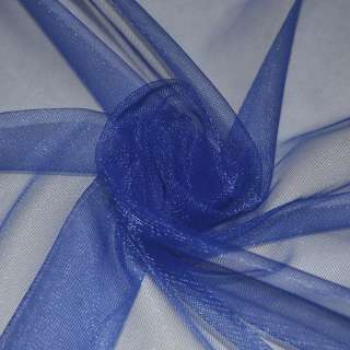 Сетка трикотажная прозрачная синяя ш.160