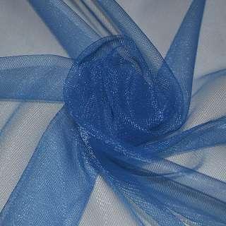 Сетка трикотажная прозрачная светло-синяя ш.160