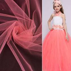 Фатін рожево-персиковий ш.165