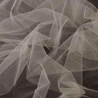 фатин (американ. сетка) бежево-серый, ш.160