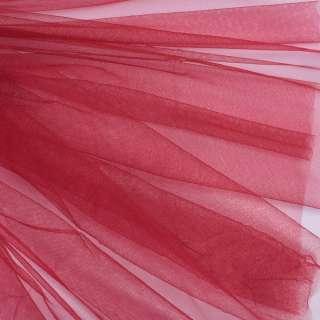 Фатин м'який матовий вишневий (дрібна клітинка), ш.160