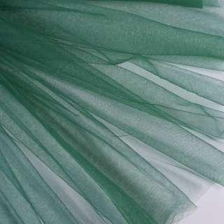 Фатин м'який матовий зелений (дрібна клітинка), ш.160