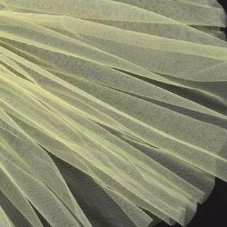 Фатин м'який матовий жовтий світлий (дрібна клітинка), ш.160