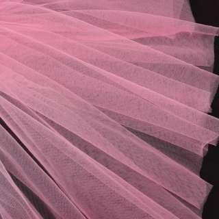 Фатин м'який матовий рожевий яскравий (дрібна клітинка), ш.160