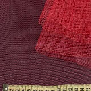 Фатин жорсткий червоний темний ш.180