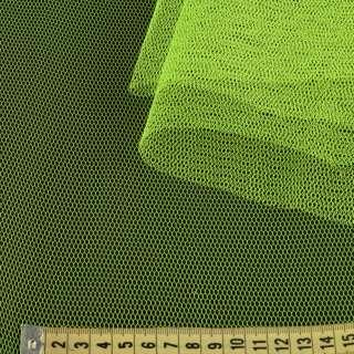 Фатин жорсткий жовтий неоновий ш.180