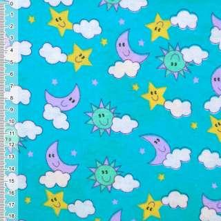 Фланель блакитна - небо ш.110
