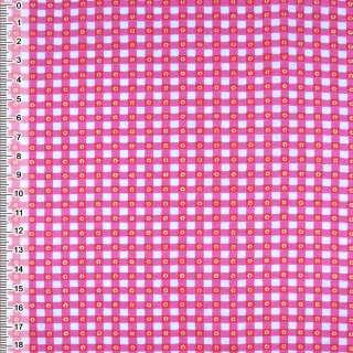 фланель белая в малиновые квадратики ш.105