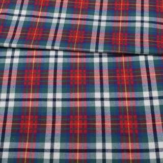 Фланель рубашечная в красно-сине-зеленую клетку ш.150