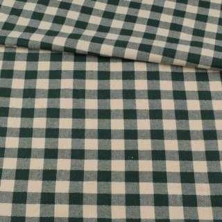 Фланель рубашечная в зелено-белую клетку с серебристым люрексом, ш.145
