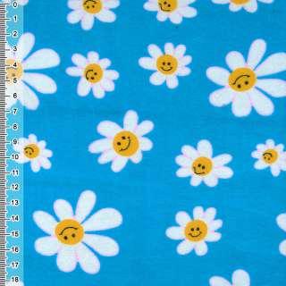 фланель св/синяя с белыми ромашками ш.110