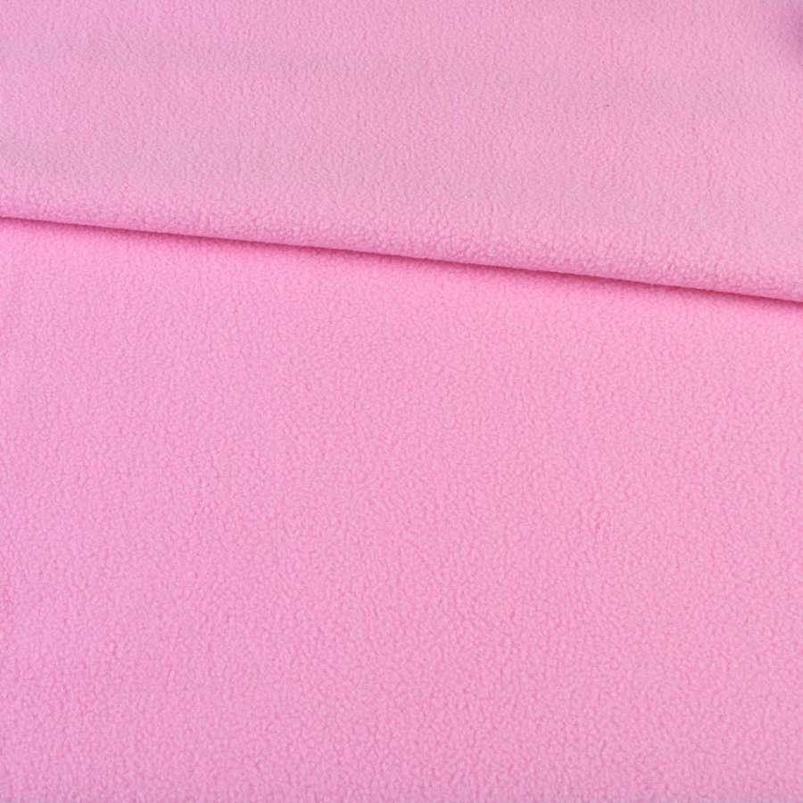 Флис розовый ш.160