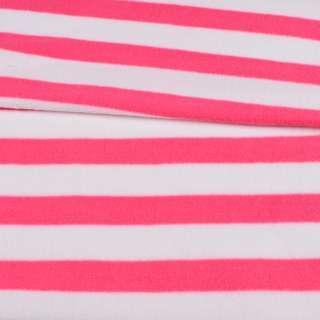 Фліс в рожево-білу смужку 3 * 2,5 ш.185