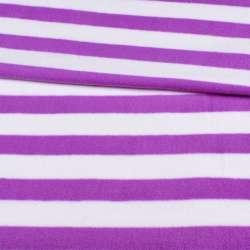 Фліс в бузково-білу смужку 3 * 2,5 ш.185