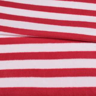 Флис в красно-белую полоску 3*2,5 ш.185