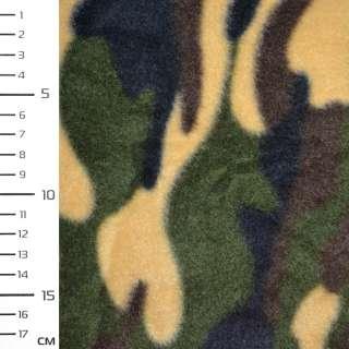 Фліс зелено жовтий камуфляж ш.162