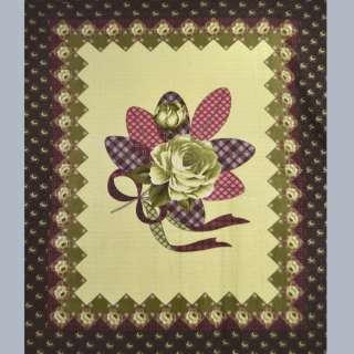 Флис  желто - оливк.  розой  и  бордовой  каймой