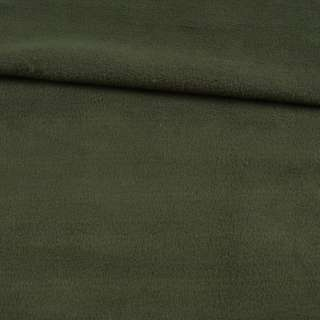 Флис оливковый темный ш.145