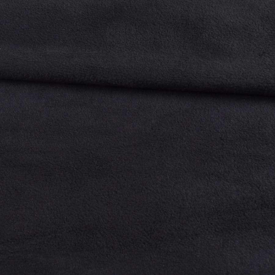 Фліс чорний з сірим відтінком ш.150