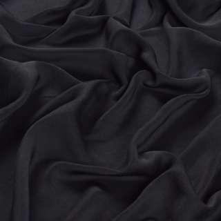 Шелк мокрый искусственный черный матовый, ш.150