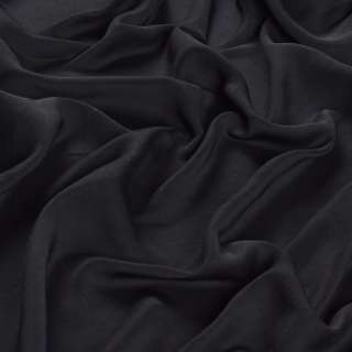 Шовк мокрий штучний чорний матовий, ш.150