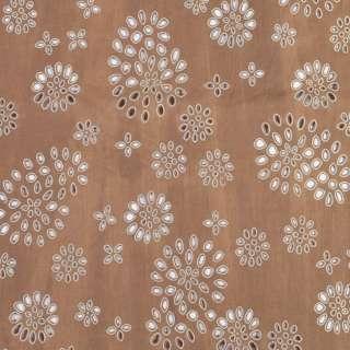 шитье светло-коричневое в крупную дырочку