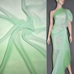 Шифон диллон светло-зелено-аквамариновая радуга ш.150