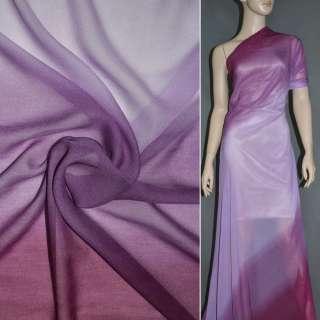 Шифон диллон сиренево фиолетовая радуга ш.150