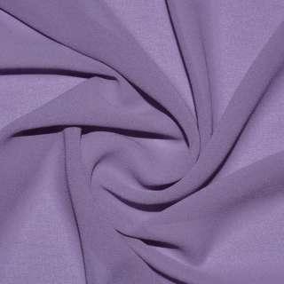 Стрейч Креп шифон фиолетово серый ш.150