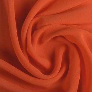 стрейч креп-шифон оранжево-красный ш.150
