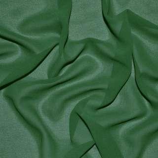 Стрейч Креп шифон темно зеленый ш.150