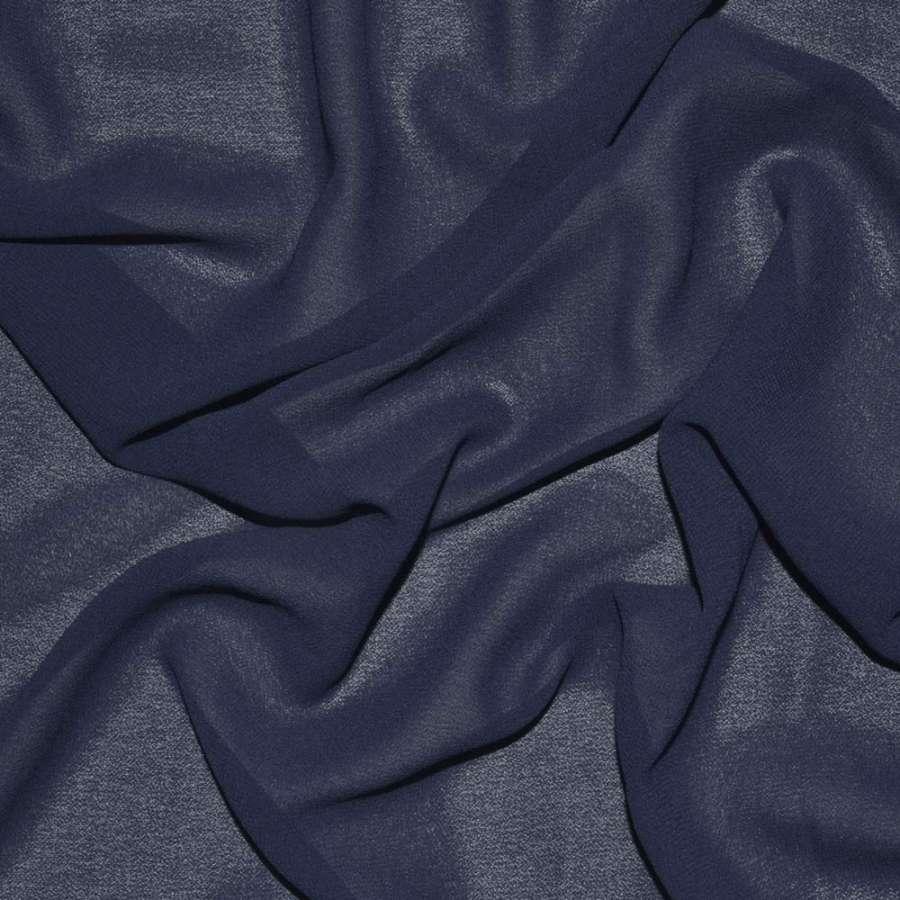 Креп-шифон стрейч синий темный ш.150