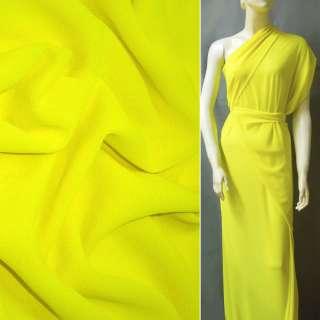 Стрейч Креп шифон желто лимонный ш.150