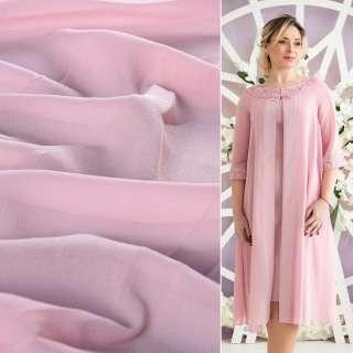 Креп-шифон стрейч молочно-рожевий ш.150