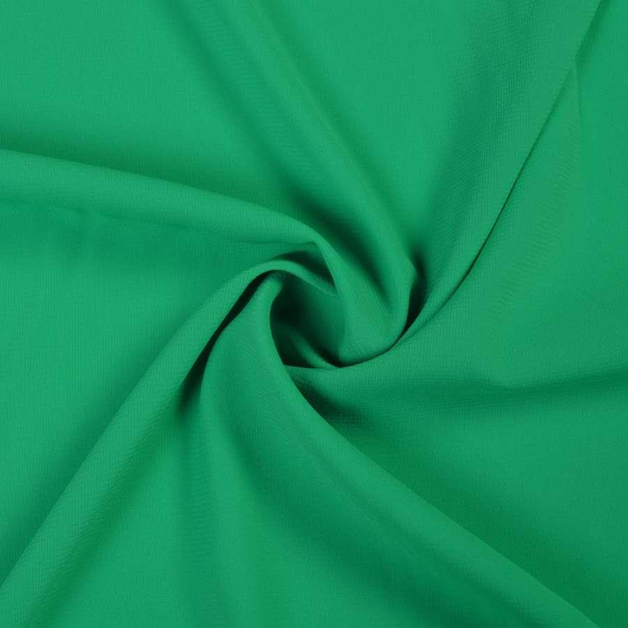 Шифон стрейч зеленый изумрудный ш.150