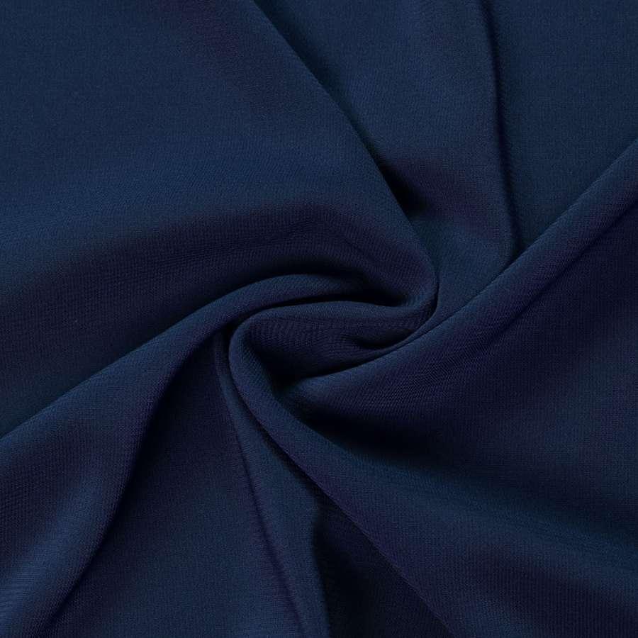 Шифон стрейч синий темный ш.150